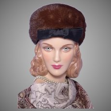 Vintage 1960s Adolfo II Mink Fur Pillbox Hat