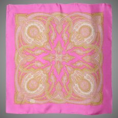 Liberty of London Pink Paisley Print Silk Scarf 1980s