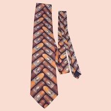 Ralph Marlin Cigar Money Band Necktie  Tie 1997