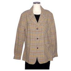 Vintage 1960s-70s Puritan Aquawool Plaid Shirt Deadstock