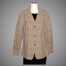 Vintage 1960s-70s Puritan Aquawool Plaid Shirt Dead Stock