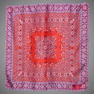 Vintage 1980s Anne Fogarty Silk Scarf Floral Print