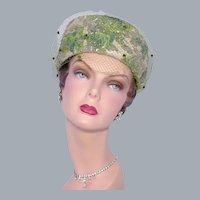 Vintage 1960s Pillbox Hat Dazzling Metallic Brocade