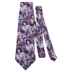 Gone With The Wind Scarlett and Rhett Silk Necktie Tie By Directions