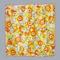Echo Silk Scarf Apple Print 1990s