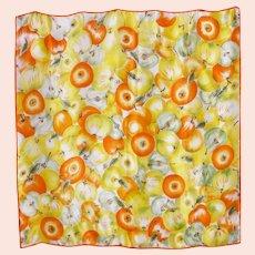 Echo Silk Scarf Apple Print 1990s