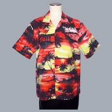 Hawaiian Sunset Print Aloha Shirt Ky's Made in Hawaii 1990s