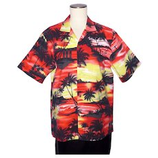 Hawaiian Sunset Print Aloha Shirt Ky's Made in Hawaii 1990s
