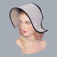 Vintage 1950s Hat Unique Dutch Girl Bonnet Style