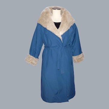 Vintage 1970s Bonnie Cashin Coat Weatherware for Russ Taylor Faux Fur Lining