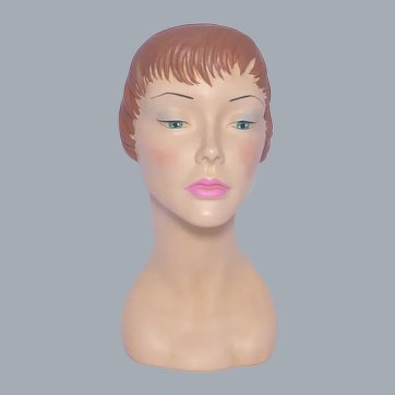 Marge Crunkleton  Mannequin Head Named Liz Hat Display