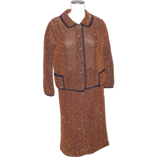 Vintage 1980s Ladies Suit Jacket and Skirt Made by Hauser Wodell