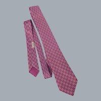 Hermes Silk Print Necktie Tie 1990s Made in France