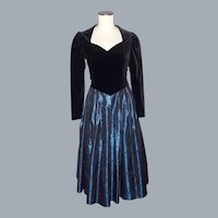 Vintage 1980s Laura Ashley Party Dress Made in Great Britain