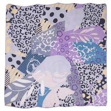 Unique Abstract Print Silk Scarf by Ba Shidi