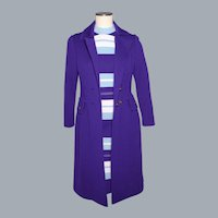 Vintage 1960s Wool Knit Coat and Dress Ensemble Made in Italy by Giancarlo by Agatha