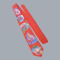 Vintage Ralph Marlin Surfin Santa Necktie 1989 Blaine Heilman Design