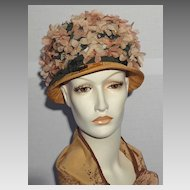 Vintage 1960s Annemarie Claus Floral Hat