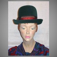 41b67fec9 Vintage Hats 1960's Hats Derby Green Hats Jean Arlett Designer Hats ...