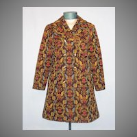 Vintage 1970s Bicentennial Tapestry Coat
