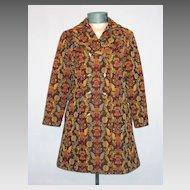 Vintage 1970s Bicentennial Tapestry Coat