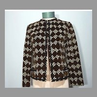 Vintage 1960s Abe Schrader By Belle Saunders Velvet Jacket Originally Sold At Thalhimers French Salon
