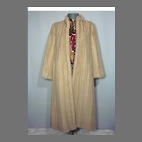 Vintage 1970s Avanti Blonde Full Length Mink Coat Originally Sold At Thalhimers