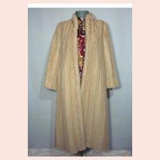 Vintage 1970s Avanti Blonde Full Length Mink Coat Originally Sold At Thalhimers