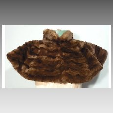 Vintage 1880s-1890s Sheared Beaver Capelet