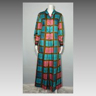 Vintage 1960s Palazzo Pants Dress Made Exclusively for Saks Fifth Avenue