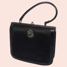 Vintage 1960s Pony Hair Handbag Brown and Black