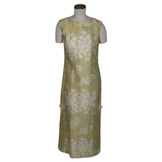 Vintage 1970s Andrade Floral Print Maxi Dress Made in Hawaii