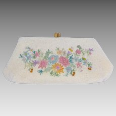 Vintage 1950s Beaded Evening Bag Hand Made in France