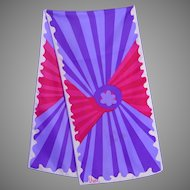 Vintage Vera Late 1960s Early 1970s Silk Scarf Violet and Red