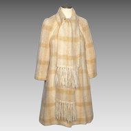Vintage 1980s Donegal Design Mohair Coat Made in Ireland