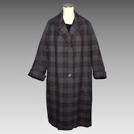 Vintage 1950s Aquascutum Wool Tweed Coat Tailored for Harrods London