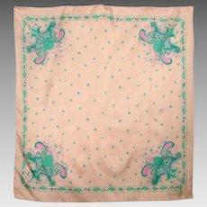 Vintage Oscar de la Renta For Melody Fashions Silk Scarf Made in Italy