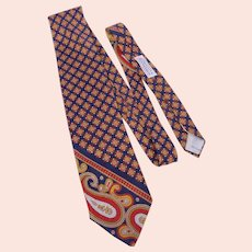 Vintage 1970s Yves Saint Laurent Silk Print Tie Originally Sold at Woodward & Lothrop