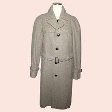 Vintage 1950s 60s Pendleton Mens Wool Tweed Trench Style Coat