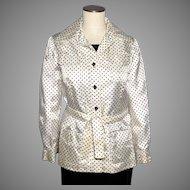 Vintage 1960s Joan Leslie By Kasper Polka Dot Jacket