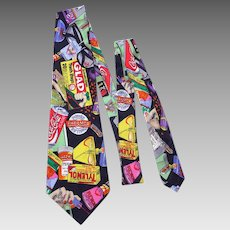 Nicole Miller Silk Print 1991 Necktie Tie Things You Can Buy at PharMor