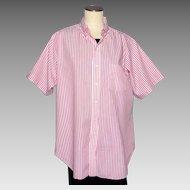 Vintage 1970s Mens Shirt Cable Car Clothiers Robert Kirk Ltd San Francisco