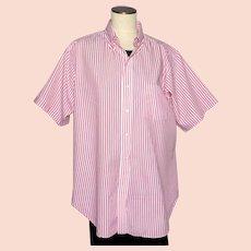 Vintage 1980s Mens Shirt Cable Car Clothiers Robert Kirk Ltd San Francisco
