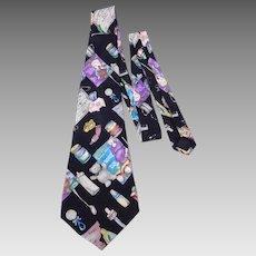 Nicole Miller 1995  Silk Necktie New Baby Novelty Print