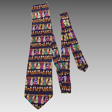 Jockeys Quarters Alynn Neckwear Silk Necktie 1990s