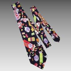 Nicole Miller 1990 Silk Necktie Tie Candy Novelty Print