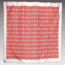 Vintage 1990s Neiman Marcus Silk Scarf Made in Switzerland