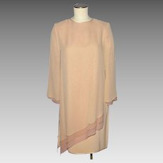 Vintage 1980s Tom and Linda Platt Silk Dress Bergdorf Goodman