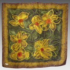 1960s Liberty of London Silk Scarf Large Modernist Floral Print