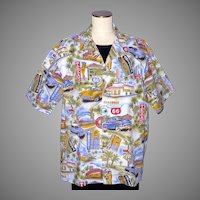 1990s  Route 66 Pacific Legend Cotton Shirt Made in Hawaii